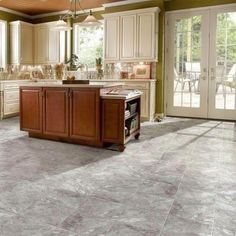 TrafficMASTER Groutable 18 In. X 18 In. White And Grey Travertine Peel And  Stick Vinyl Tile (36 Sq. Ft. / Case)