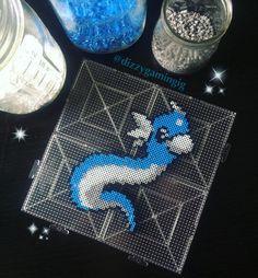 Dratini Pokemon mini perler beads by dizzygamingig