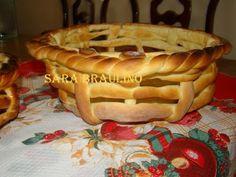 Cesta de massa de pão - linda!