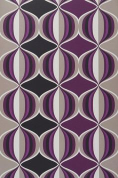 Wallpaper from the for my purple bedroom Motif Vintage, Vintage Patterns, Wallpaper Samples, Pattern Wallpaper, Plum Art, Border Embroidery Designs, Black And White Painting, Grey And Beige, Basic Colors