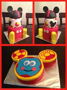 Mickey Mouse 1st birthday cake with a Toodles Dig-in cake | Flickr - Photo Sharing! 1st Birthday Cakes, First Birthday Parties, Birthday Party Themes, 1st Birthdays, Birthday Ideas, Mickey Mouse Clubhouse Birthday, Mickey Mouse Birthday, Mickey Party, Party Cakes