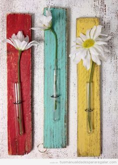 Tiny wall vases - cottage decor shabby rustic vase test tube 2 would be fine for me. My craft room is yellow and grey. Red And Teal, Red Turquoise, Teal Yellow, Turquoise Kitchen, Kitchen Yellow, Teal Kitchen Decor, Yellow Walls, Light Turquoise, Yellow Kitchens