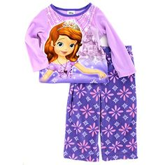 e92f37f737 Sofia the First Girls Fleece Pajamas (2T