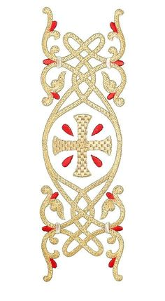 «Ornament with drops» embroidery, Protodeacon Vestment, $530.00, Catalog of St…