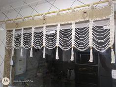 Crochet Curtain Pattern, Crochet Curtains, Curtain Patterns, Valance Curtains, Chandelier, Ceiling Lights, Handmade, Home Decor, Cotton Curtains