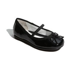 Nordstrom 'Bella' Ballet Flat (Walker, Toddler, Little Kid & Big Kid) (52 CAD) ❤ liked on Polyvore featuring kids, baby, baby clothes, baby girl and kids clothes