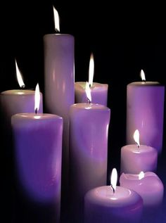 Purple candles. Perhaps they smell of lavender, or maybe grapes?