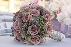 Lovely dusky pink bouquet