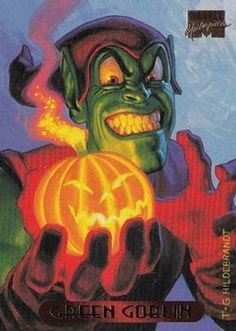 1994 Fleer Marvel Masterpieces Hildebrandt Brothers #44 Green Goblin