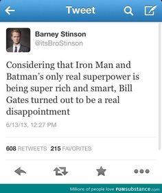 Rich superheroes