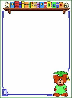escola Writing Paper, Letter Writing, School Clipart, Frame Background, Picasa Web Albums, Borders And Frames, Frame Crafts, Note Paper, Kindergarten