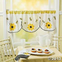Bee Curtain Kitchen CurtainsKitchen
