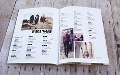 Fringe Magazine by Megan Perez, via Behance