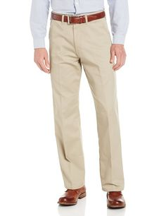 Dickies Men's Relaxed Fit Cotton Flat Front Pant, Khaki, 36X32