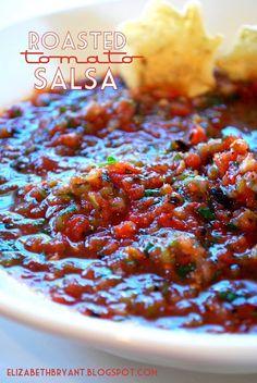 lizzy write: roasted tomato salsa