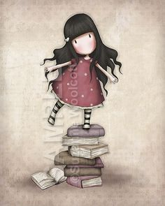 The standing on the books