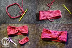 Noin, tässä se nyt tulee. Ohje siihen virkattuun pantaan, josta laitoin kuvia eilen. Oikeastaan tämä ei ole mikään perinteinen virkkausohje vaikeine merki Crochet Stitches, Knit Crochet, Head Accessories, Crocheting, Sewing, Knitting, Outfit, Blog, Chrochet
