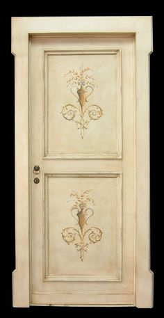 Reproductions of antique italian painted doors - Porte del Passato Antique Doors, Antique Paint, Old Doors, Windows And Doors, Hand Painted Furniture, Art Furniture, Furniture Design, Motif Arabesque, Italian Doors
