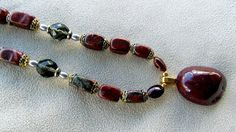 Red Jasper with Brass and Gunmetal