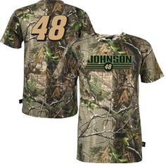 NASCAR Jimmie Johnson NASCAR Realtree Camo T-Shirt (X-Large) by Football Fanatics. $29.95. Jimmie Johnson NASCAR Realtree Camo T-ShirtReinforced taped collar seamOfficially licensed #48 Jimmie Johnson camo shirtScreen print graphicsImported100% Cotton100% CottonScreen print graphicsReinforced taped collar seamImportedOfficially licensed #48 Jimmie Johnson camo shirt