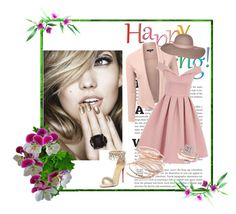 """""""Happy Spring"""" by dinaa45 ❤ liked on Polyvore featuring Chi Chi, Red Camel, Christian Louboutin, Allurez and Nine West"""