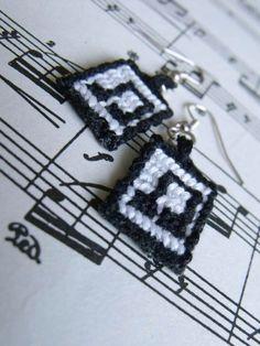 Music earrings by letax.deviantart.com on @deviantART