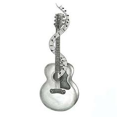 guitar patterns for tattoos | Music Tattoos Tattoo Designs Gallery Unique Pictures And Ideas:
