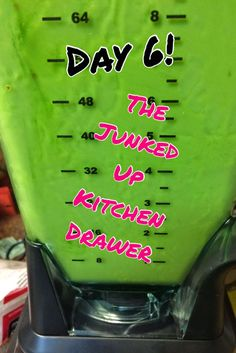 10 Day Green Smoothie Cleanse Progress-The Junked Up Kitchen Drawer