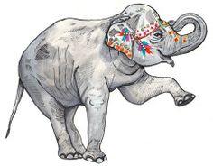 Painted Elephant I Rachel Clore