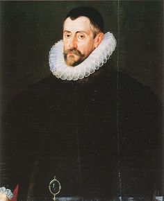 Sir Francis Walshingham by John De Critz the Elder, c.1587. (National Portrait Gallery, London) Sir Francis Walsingham, Principal Secretary 1573–1590. Being Elizabeth's spymaster, he uncovered several plots against her life.