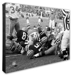 Photo File Vince Lombardi & Bart Starr Green Bay Packers Ice Bowl Canvas Art