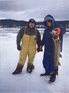 Ice fishing on Flathead Lake using Zimmer baits