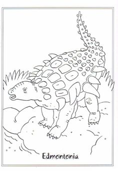 coloring page Dinosaurs on Kids-n-Fun. Coloring pages of Dinosaurs on Kids-n-Fun. More than coloring pages. At Kids-n-Fun you will always find the nicest coloring pages first! Dinosaur Coloring Pages, Coloring Pages For Boys, Disney Coloring Pages, Coloring Book Pages, Adult Coloring, Dinosaur Activities, Dinosaur Crafts, Painting Templates, Outline Drawings
