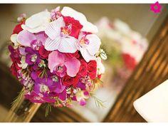 Ramo de novia con orquídeas pequeño