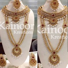 Gorgeous Complete Bridal Set with red Center stone and clear stones in gold polish.  This set includes necklacelong haarearringstikkanose ring hand jewellery.  Additional accessories available on preorder  This set can be customised into any colour of your choice.  Enquiries : 00447585522293/00447448472033(watsapp/viber)  Email : kainoork@gmail.com  #sikhbride #sikhwedding #indianbride #indianbridal #indianwedding #desifashion #walima#punjabibride #punjabiwedding#bridetobe…
