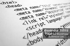 21 Essential HTML Tags For WordPress Reference List