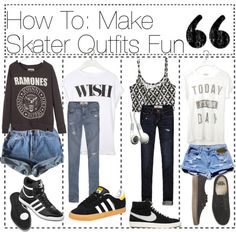 """How To: Make Skater Outfits Fun"" by the-hipster-tipsters ❤ liked on Polyvore"