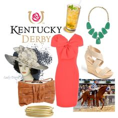 Kentucky Derby, created by chloe-valentine on Polyvore