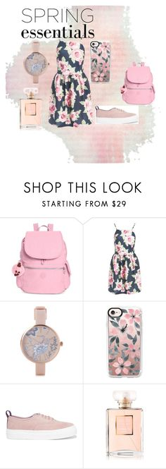 """""""Spring essentials!!"""" by malaksweidan on Polyvore featuring beauty, Kipling, Sans Souci, Pilgrim, Casetify, Eytys and Chanel"""