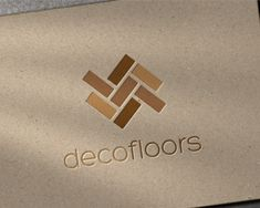 Deco Floors Logo design - Simple and clean abstract form made ​​of floor boards.<br />Logo design ideal for a business related to: floor installing, carpentry, architecture, interior design, home decoration, furniture design and trade, etc. Price $375.00