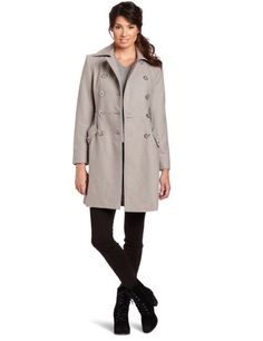 Kenneth Cole Women's Double Breasted Melton Trench « Clothing Impulse