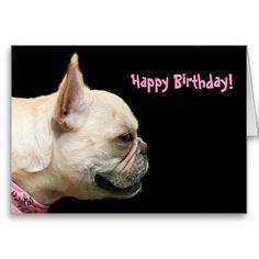 Deb holbik dholbik on pinterest happy birthday french bulldog greeting card m4hsunfo