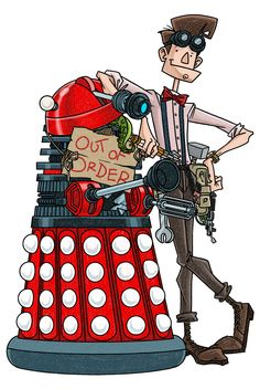 Doctor and Dalek.