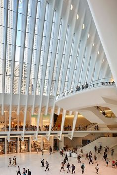 World Trade Center Transportation Hub Oculus, New York, New York, by Santiago Calatrava, photographed by Hufton + Crow