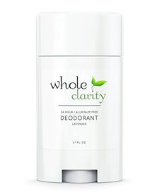 100% Natural and Aluminum Free High Performance Deodorant by Whole Clarity 3.1 Ounce [Lavender]
