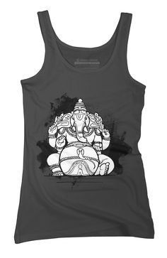Ganesha, the Elephant God Womens Tank Top