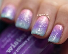 Picture Polish Fairy Floss, Tiffany and Wisteria Gradient + OPI Pirouette My Whistle