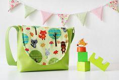 Kindergartentasche mit Waldtieren von nähfein auf DaWanda.com