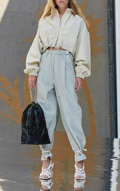 Summer Fashion Trends, Summer Trends, Spring Summer Fashion, Spring Outfits, Mode Outfits, Trendy Outfits, Fashion Outfits, Womens Fashion, Cropped Leather Jacket