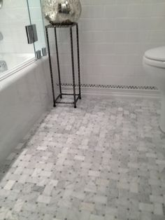 Courthouse Contractors – bathrooms – marble tile floor, marble tile bathroom, marble bathroom f Marble Bathroom Floor, Grey Bathroom Vanity, Bathroom Tile Designs, Bathroom Flooring, Neutral Bathroom, Slate Flooring, Small Bathroom, Master Bathroom, Cork Flooring
